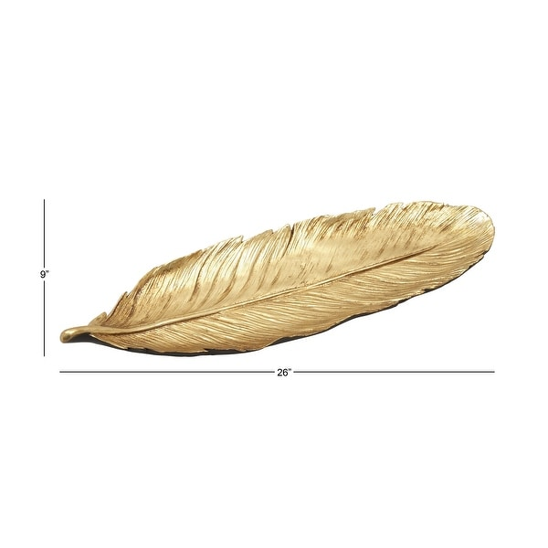 Copper Grove Kitty Ps Gold Feather Tray