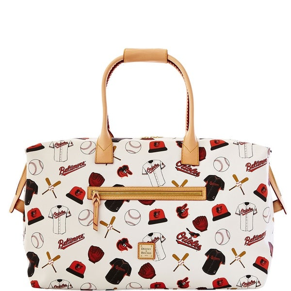 Dooney & Bourke MLB Orioles Medium Duffle (Introduced by Dooney & Bourke at $480 in Feb 2014) - White