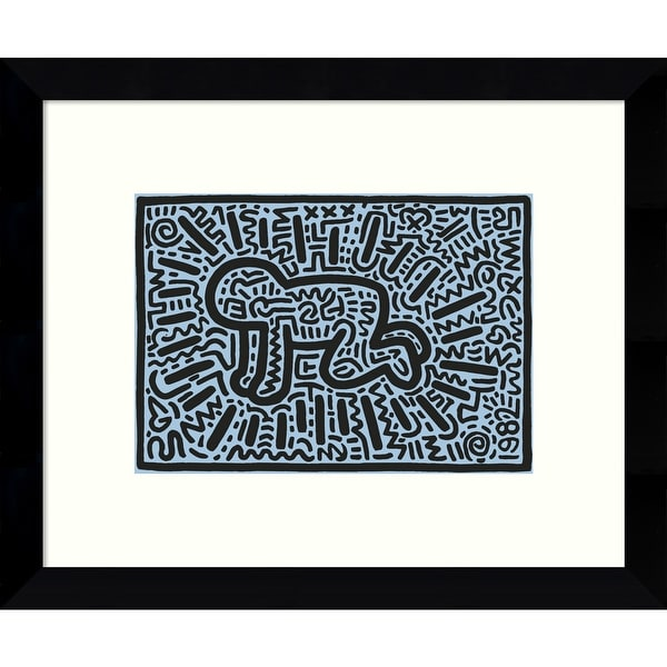 Framed Art Print 'Kh18 (Crawling Child)' by Keith Haring 11 x 9-inch. Opens flyout.