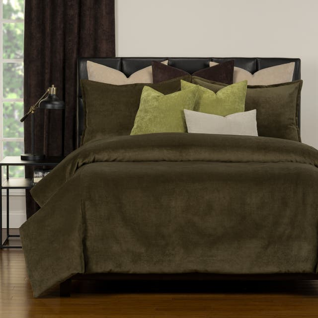 Mixology Padma 10 Piece Duvet Cover and Insert Set - Chive - King