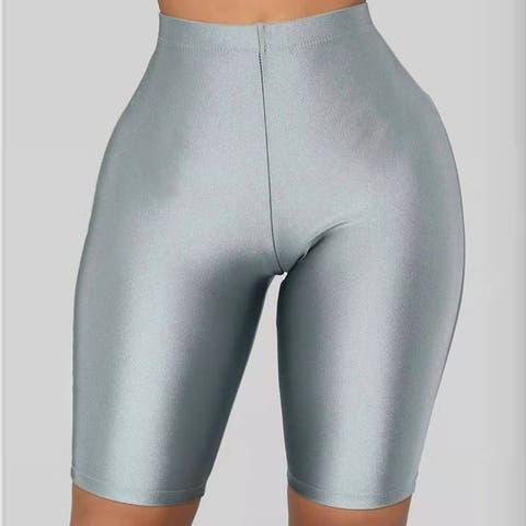 2019 New Women's Sexy Pants High Waist Fluorescent Shorts Cycling Pants