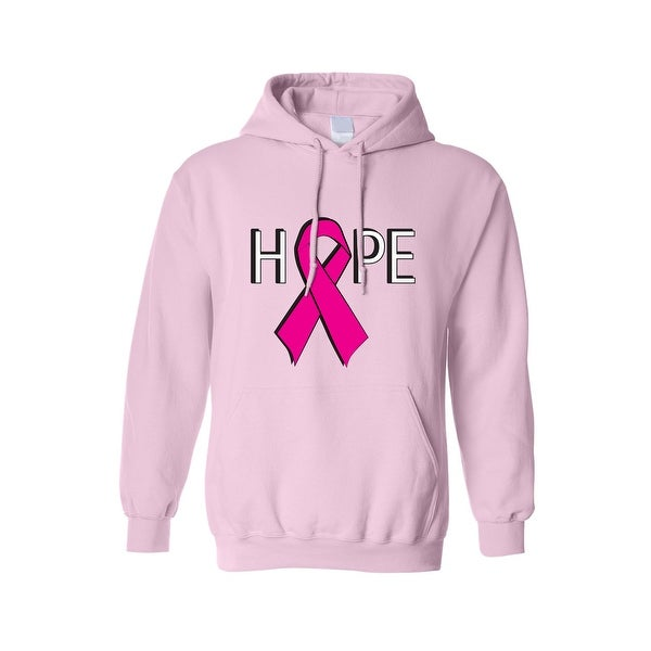 "Unisex Pullover Hoodie ""HOPE"" BREAST CANCER AWARENESS"