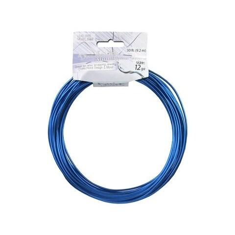 Dazzle It Aluminum Wire 12ga Rnd 30ft Royal Blue