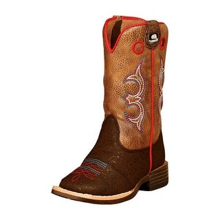 Double Barrel Western Boots Boys Kids Kolter Zip Brown 4419402