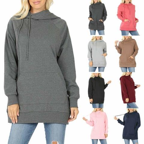 NioBe Clothing Womens Side Tie Pullover Sweatshirt Hoodie Sweater