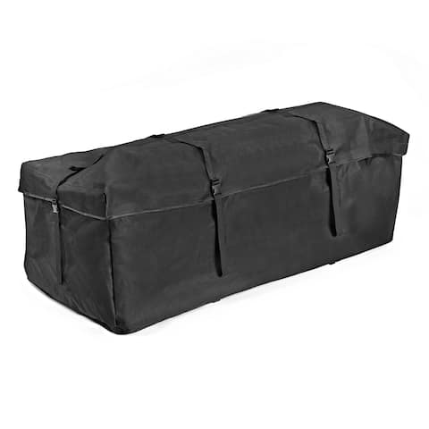 "Weather Rain Resistant Cargo Carrier Bag 58""x20""x19.5"" Universal Luggage Sack - Black"