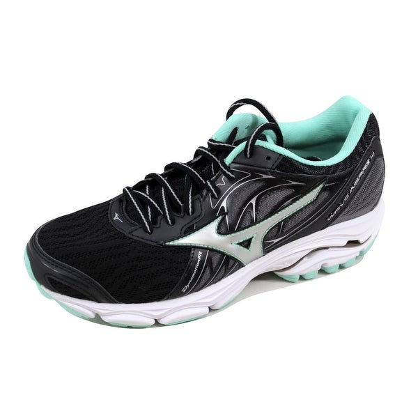 Mizuno Women's Wave Inspire 14 Black/Silver-Teal J1GD184403
