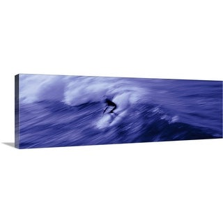 """""""Person surfing in the sea"""" Canvas Wall Art"""