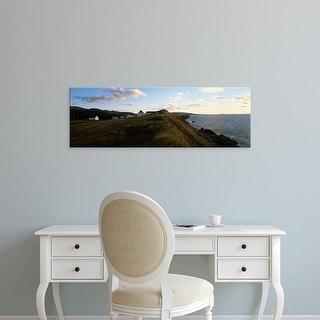Easy Art Prints Panoramic Image 'Buildings on coast, Western coast, Cape Breton Island, Nova Scotia, Canada' Canvas Art