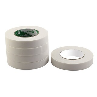 Home Sponge Strong Double Sided Sticky Adhesive Tape White 2.4cm x 4.6M 5 Rolls
