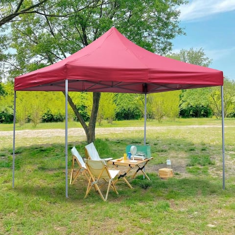 Ainfox 10x10 Ft Outdoor Patio Canopy Tent Pop-Up Canopy Instant Shelter with Carrying Bag