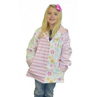 Girls Pastel Posies Rain Coat 8-10
