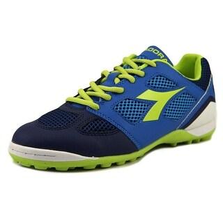 Diadora Quinto5 Men Round Toe Leather Blue Sneakers