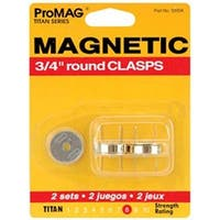 "Round Gold - Promag Magnetic Clasps 3/4"" 2/Pkg"