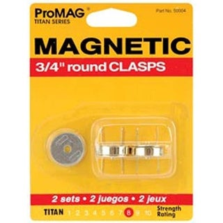 """Round Gold - Promag Magnetic Clasps 3/4"""" 2/Pkg"""