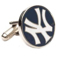 Silver Plated New York Yankees Cufflinks