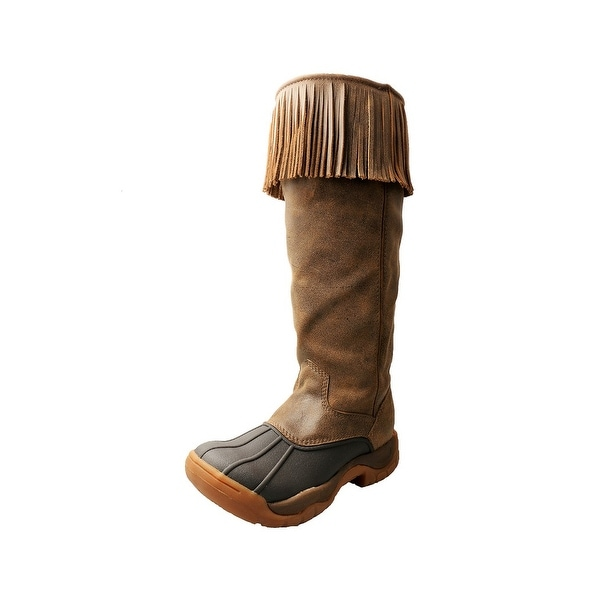 Twisted X Outdoor Boots Womens Guide Fringe Brown Bomber