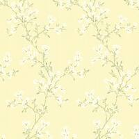 Brewster 344-68762 Altha Yellow Jasmine Trail Wallpaper - N/A