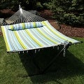 Sunnydaze 2-Person Quilted Hammock with Spreader Bars and Detachable Pillow - Hammock Stand Included - Thumbnail 40