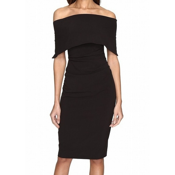 de50ee9c550 Shop Vince Camuto NEW Black Women s 12 Off Shoulder Popover Sheath Dress -  Free Shipping Today - Overstock - 18948550