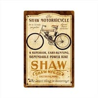 Past Time Signs FRC080 Shaw Motorbike Motorcycle Vintage Metal Sign