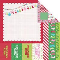 "North Pole - Mint Twist Double-Sided Paper 12""X12"" (20/Pack)"