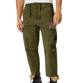 LRG NEW Green Military Mens Size 32X31 Tapered Drawstring Cargo Pants