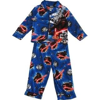 "Star Wars Boys Royal Blue ""The Force Awakens"" 2 Pc Pajama Set"