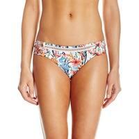 Lucky Brand White Womens Size Small S Floral-Print Bikini Bottom