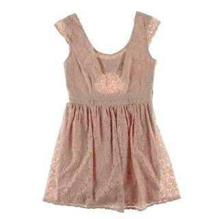 City Studio Womens Juniors Casual Dress Lace Cut-Out