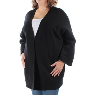 ALFANI $179 Womens New 1010 Black Pocketed Dolman Sleeve Sweater 2X B+B