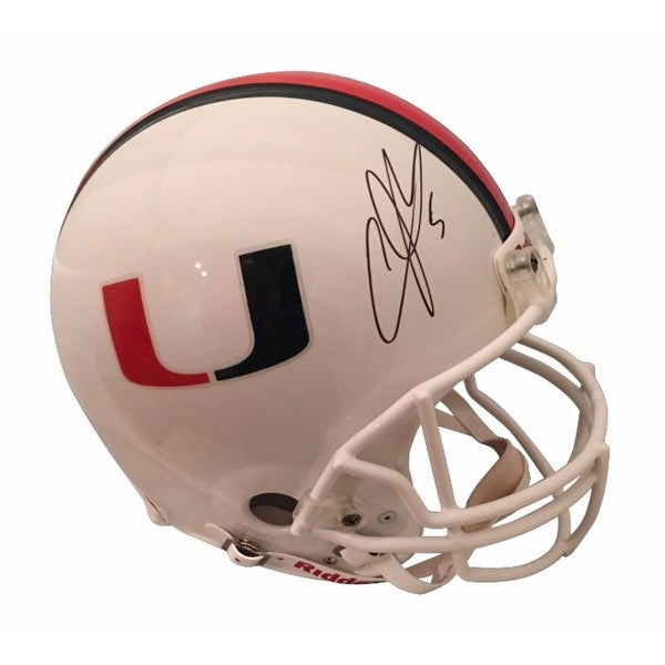 huge selection of 5bd61 3caed Andre Johnson Autographed Miami Hurricanes Signed Authentic White Football  Full Size Helmet JSA COA