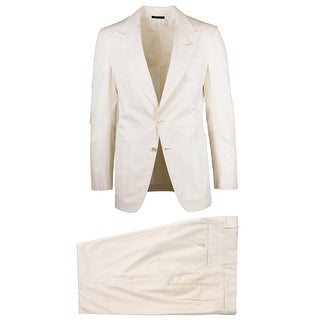 Tom Ford Mens Ivory 100% Cotton Shelton Lightweight Suit - 38 R