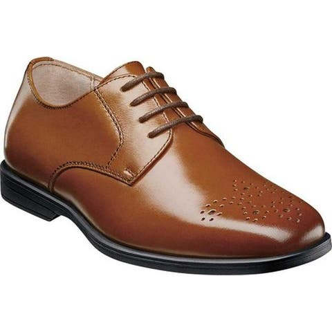 Florsheim Boys' Reveal Perf Toe Oxford Jr. Cognac Leather