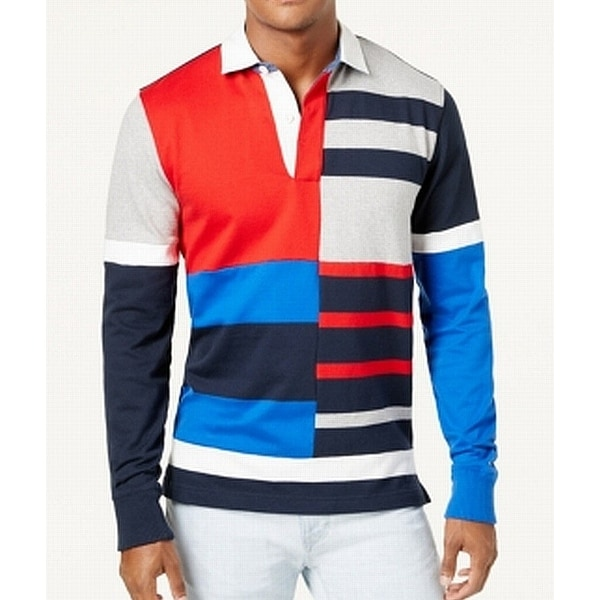 2bd9682453b Shop Tommy Hilfiger Blue Mens Size 2XL Vintage Fit Polo Colorblock Shirt -  Free Shipping Today - Overstock - 22091595