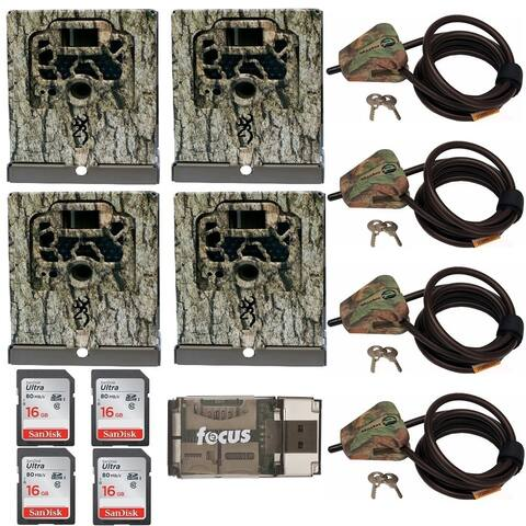 Browning Trail Cameras Security Box (4-Pack) Bundle - Camouflage