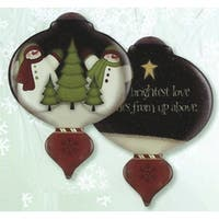 """5"""" Ne'Qwa """"The Brightest Love"""" Hand-Painted Glass Christmas Ornament #7141104"""