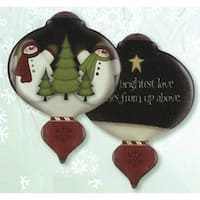 """5"""" Ne'Qwa """"The Brightest Love"""" Hand-Painted Glass Christmas Ornament #7141104 - multi"""