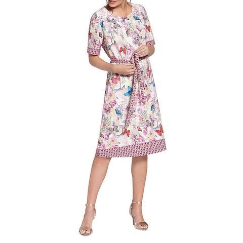Basler Womens T-Shirt Dress Printed Daytime - Silver Lining