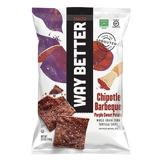 Way Better Snacks Tort Chip, Chipotle, BBQ - (Case of 12 - 5.5 oz)