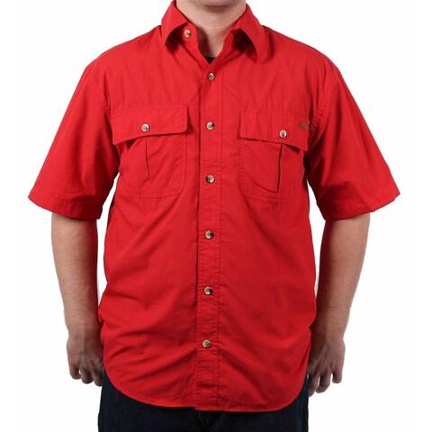 Case IH Men's Spread Collar Solid Shirt