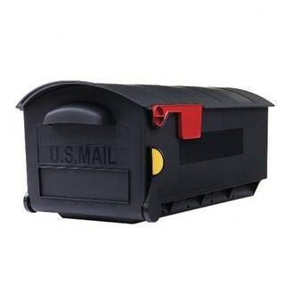 Gibraltar GMB515B01 Patriot Large Post Mount Plastic Mailbox, Black