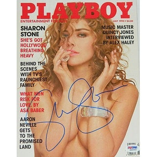 Sharon Stone signed Playboy Magazine July 1990 Full Issue PSA Hologram entertainmentmovie memorabil