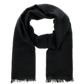 Versace IT00625 NERO Black 100% Wool Mens Scarf