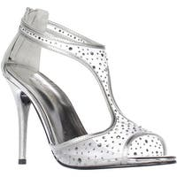 Caparros Hope T-Strap Sandals, Silver