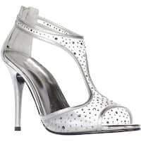 Caparros Hope T-Strap Sandals, Silver