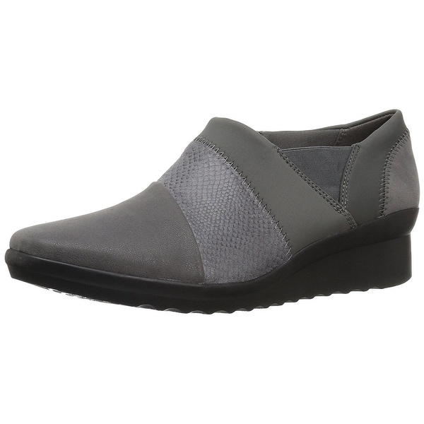 CLARKS Womens Caddell Denali Fabric Closed Toe Loafers