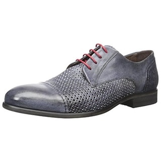 Bacco Bucci Mens Manfred Leather Perforated Derby Shoes - 8.5 medium (d)