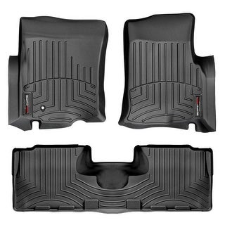 WeatherTech 44029-1-2 Black Front & Rear FloorLiner: Ford Expedition 2003 - 2006, Lincoln Navigator 2003 - 2006