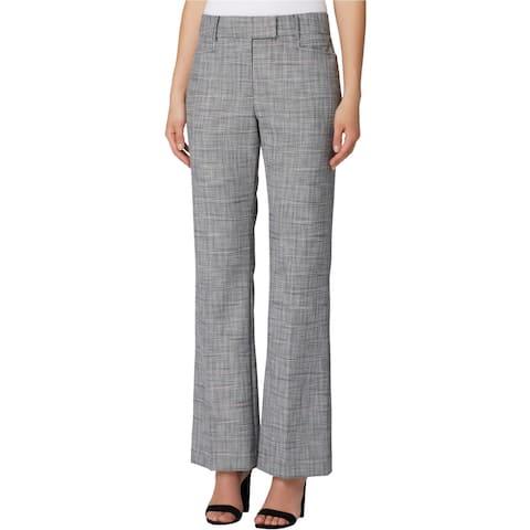 Tahari Womens Textured Plaid Casual Trouser Pants